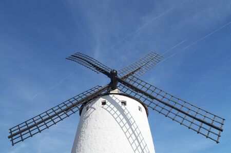 forefront of  the blades of a traditional windmill in Campo de Criptana, Ciudad Real, Castilla La Mancha, Spain photo