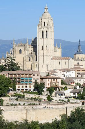 view of the Cathedral of Segovia, Castilla Leon, Spain Stock Photo - 15096008