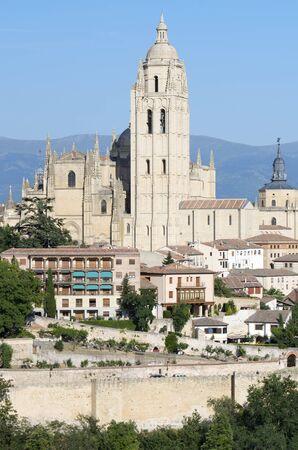 view of the Cathedral of Segovia, Castilla Leon, Spain Stock Photo - 15096008
