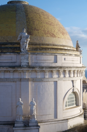 forefront of the dome of the Cathedral of Cadiz, Andalusia, Spain Stock Photo - 15172383