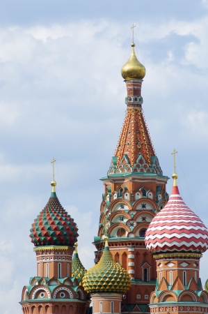 View of the  Orthodox Cathedral of St. Basil in Red Square, Moscow, Russia Stock Photo - 15237092
