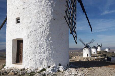 castilla la mancha: traditional windmills in Consuegra, Toledo, Castilla La Mancha, Spain Stock Photo