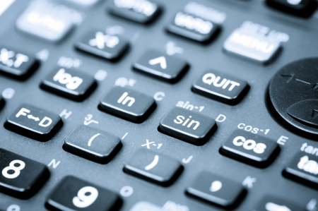 close up of a scientific calculator buttons photo
