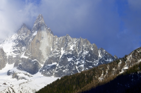 View of Dru Peak in Chamonix, Alps, France Stock Photo - 16183210