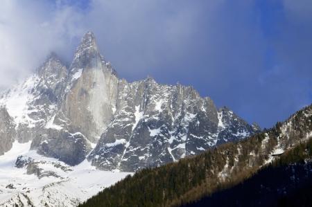 View of Dru Peak in Chamonix, Alps, France Stock Photo - 16183210