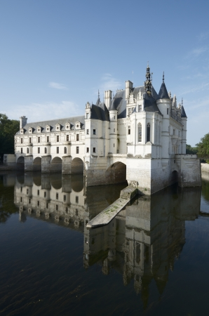 katherine: view of the castle of Chenonceau, Loire Valley, France. Known as the castle of the ladies was built in 1513 by Katherine Briconnet, houses a collection of valuable paintings and striking good is one of the most visited in the Loire Valley.