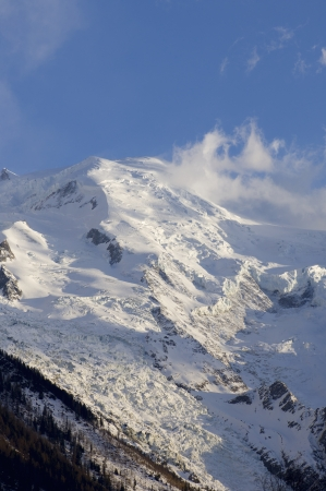 Mont Blanc peak in Chamonix, Alps, France Stock Photo - 16260748