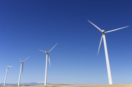 group of windmills for renewable electric energy production Stock Photo - 16260753