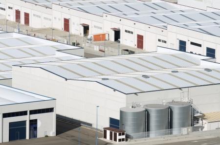 warehouse building: View  of Centrovia industrial zone, La Muela, Saragossa province, Aragon, Spain
