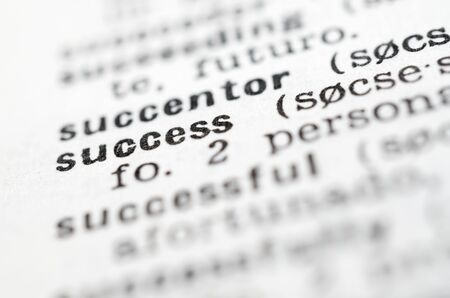 forefront: forefront of success written word in a dictionary Stock Photo