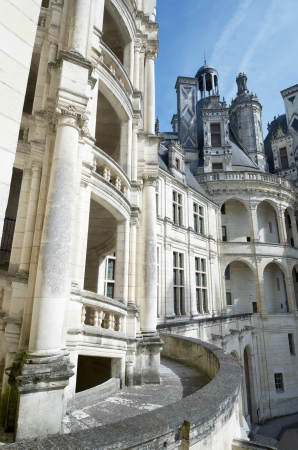 chambord: Chambord, France - August 16, 2012: Chambord Castle. Built as a hunting lodge for King Francois I, between 1519 and 1539, this castle is the largest and most frequented of the Loire Valley.