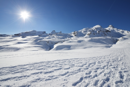 Winter landscape in the Anéou, Ossau Valley, Pyrenees National Park, Pyrenees, France Stock Photo - 17312229