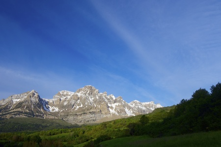 dawn of spring in the mountains Partacua; Valle de Tena, Pyrenees Stock Photo - 17531880