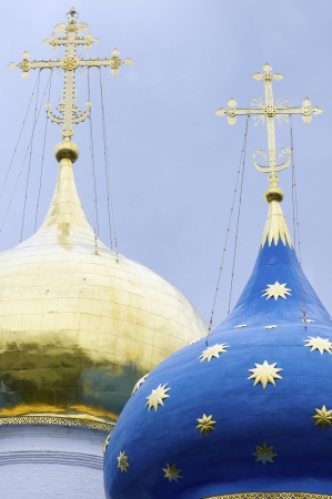 forefront of the dome of Trinity St.Sergius Monastery, Sergiev Posad, Russia. Stock Photo - 17474866