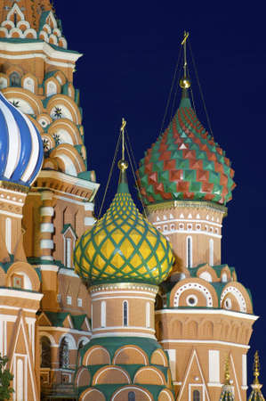 View of the  Orthodox Cathedral of St. Basil in Red Square, Moscow, Russia Stock Photo - 17474887
