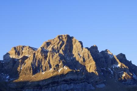Sunset in Partacua Mountains, Tena Valley, Pyrenees, Huesca, Aragon, Spain Stock Photo - 17474906