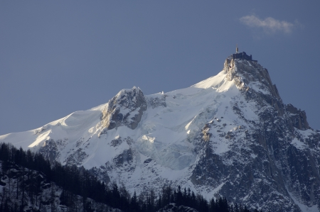 view of the northern slopes of the Aiguille du Midi, Chamonix, Alps, France Stock Photo - 17707172