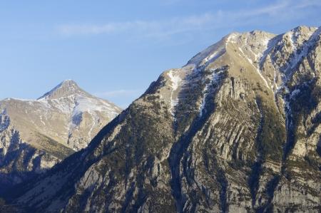 mountainous: mountainous landscape in the Pyrenees, Huesca, Aragon, Spain