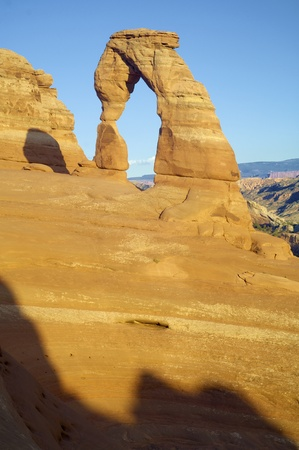 delicate arch: Delicate Arch in Arches National Park, Utah, United States
