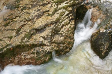 Waterfall in Arazas river, Ordesa National Park, Pyrenees, Huesca, Aragon, Spain photo