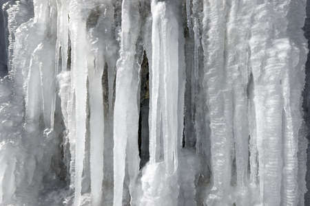 icefall: closeup of an icefall, Pyrenees, Spain