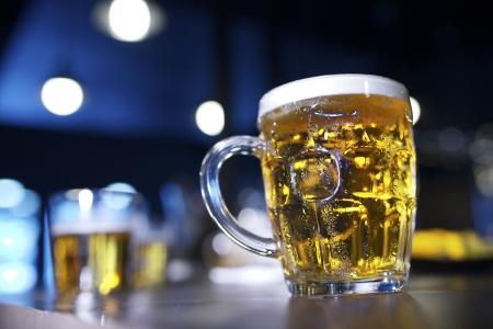 closeup of a beer mug in a bar Stock Photo - 18677009