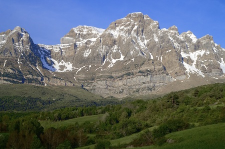 Telera Peak in Partacua Mountains, Tena Valley, Huesca, Aragon, Pyrenees, Spain photo