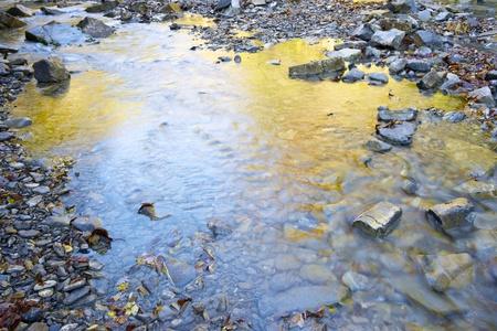 Autumn reflections in the Aso river, valley of Vio, Pyrenees, Huesca, Aragon, Spain Banco de Imagens