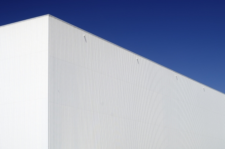 forefront: forefront of the facade of an industrial building Stock Photo