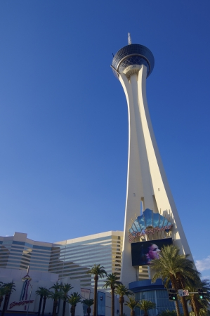 Las Vegas, USA - September 1, 2007: Stratosphere Tower, 1,149 ft high, is located on Las Vegas Boulevard and is the tallest observation tower in the United States.