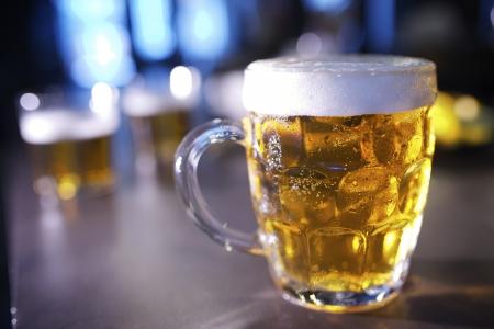 closeup of a beer mug in a bar Stock Photo - 19621582