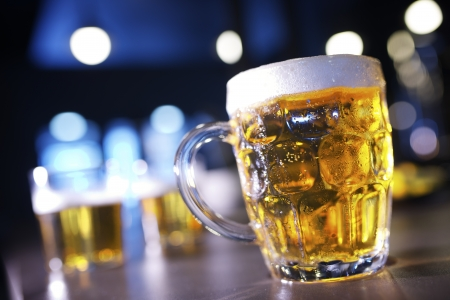 closeup of a beer mug in a bar Stock Photo - 19621686