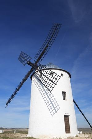 castilla la mancha: Traditional windmill in Campo de Criptana, Ciudad Real, Castilla La Mancha, Spain