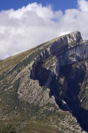 anisclo: rocky pinnacle in Anisclo Valley, Ordesa National Park, Pyrenees, Huesca, Aragon, Spain