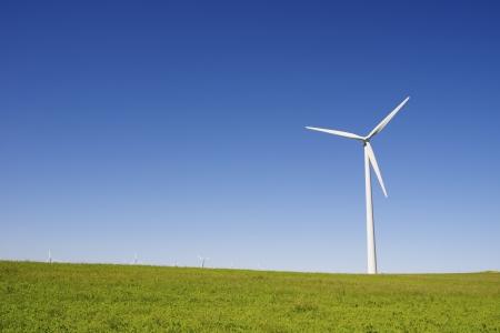 windmills for  electric power production, Gurrea de Gallego, Huesca, Aragon, Spain photo