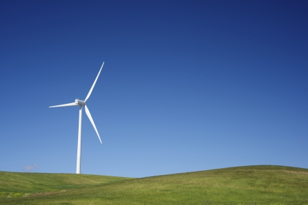 modern generation: windmill for  electric power production Stock Photo
