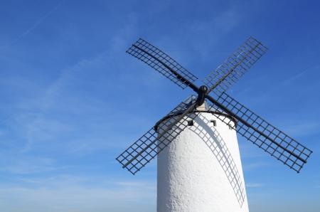 traditional windmill: Traditional windmill in Campo de Criptana, Spain