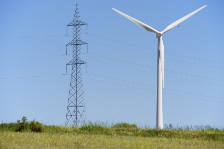 windmill for removable energy production and pylon photo
