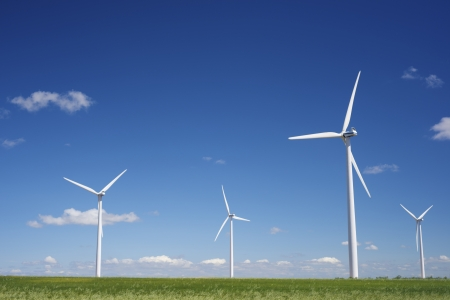windmills for  electric power production photo