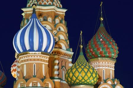 red square moscow: Vista de la Catedral Ortodoxa de San Basilio en la Plaza Roja, Mosc?, Rusia