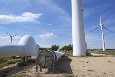 改修工事、風車のプロペラ