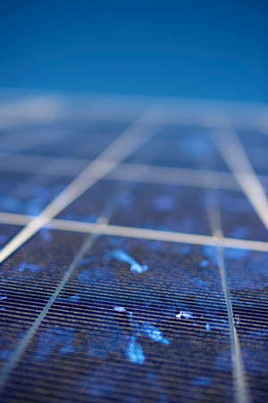 detail of a photovoltaic panel for renewable electric production photo