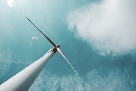 actual: closeup of a windmill for renewable electric energy production