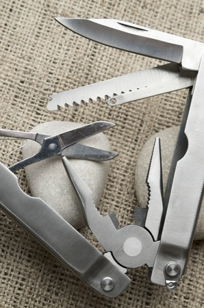 close up view  of a multi-tool pliers Stock Photo - 27166563