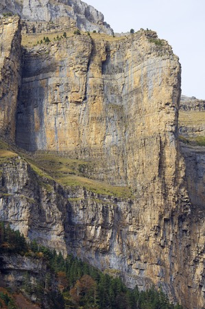 rocky pinnacle in the walls of Ordesa national park, Pyrenees, Spain photo