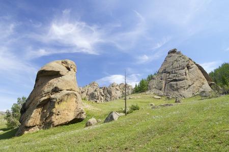 pinnacle: Landscape in Gorkhi Terelji National Park, Mongolia