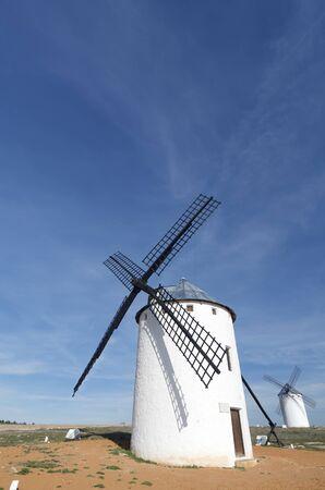 castilla la mancha: group of  traditional windmills in Campo de Criptana, Ciudad Real, Castilla La Mancha, Spain