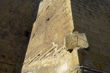 Old sundial in Frago Church, Zaragoza, Aragon, Spain photo