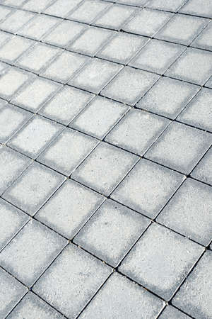 floor of a street with stone tiles photo