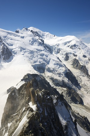 aiguille: Mont Blanc, Mont Blanc Massif, Chamonix, Alps, France Stock Photo